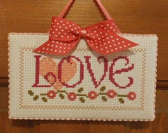 "Finished Cross Stitch ""Love"""