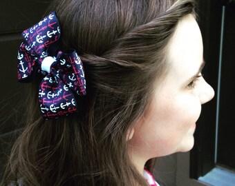 Anchor Hair Bow