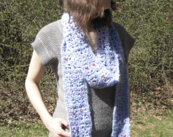 Purple Fuzz beaded scarf