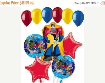 ON SALE 11 pc Transformers Prime Birthday Balloon Bouquet Party Decor