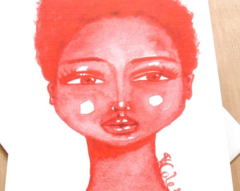 African American 'Little Red' Greeting Card