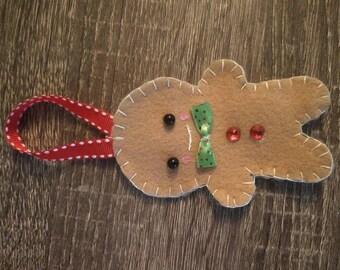 Felt Gingerbreadman Ornament