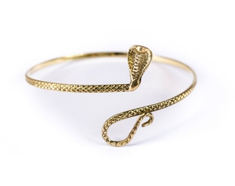 Cobra Armlet Tribal Armlet Adjustable Serpent Brass Armlet Snake Armlet   + Free UK Delivery BG