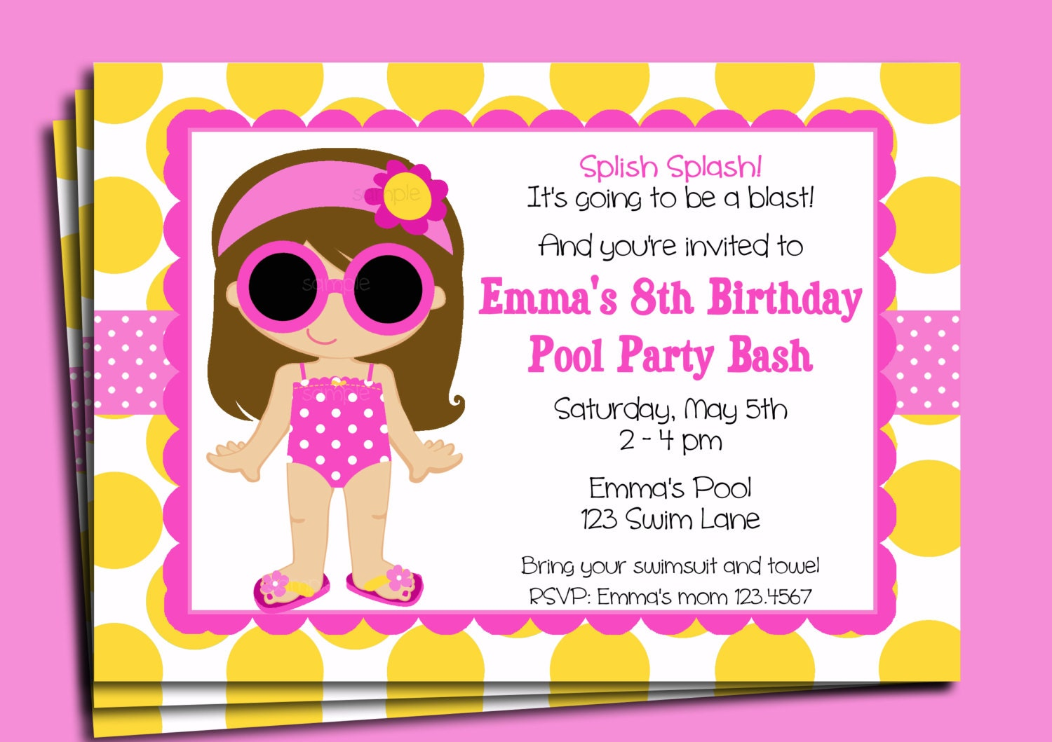 Kids Pool Party Invitation Wording Pasoevolistco - Party invitation template: pool party invitations templates