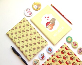 Sweets About Me - Blank A5 Notebooks - Journal