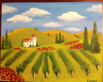On sale...Vineyard Painting
