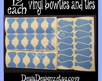 24 Baby shower Ties and Bowties vinyl decals Boy baby shower decorations sprinkle party vinyl cup stickers vinyl stickers lil man little man