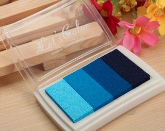 Stamp pad blue