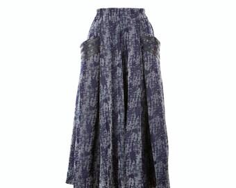 Denim skirt with pockets, long skirt, midi skirt, denim skirt, custom made skirt, skirt for women, handmade clothing