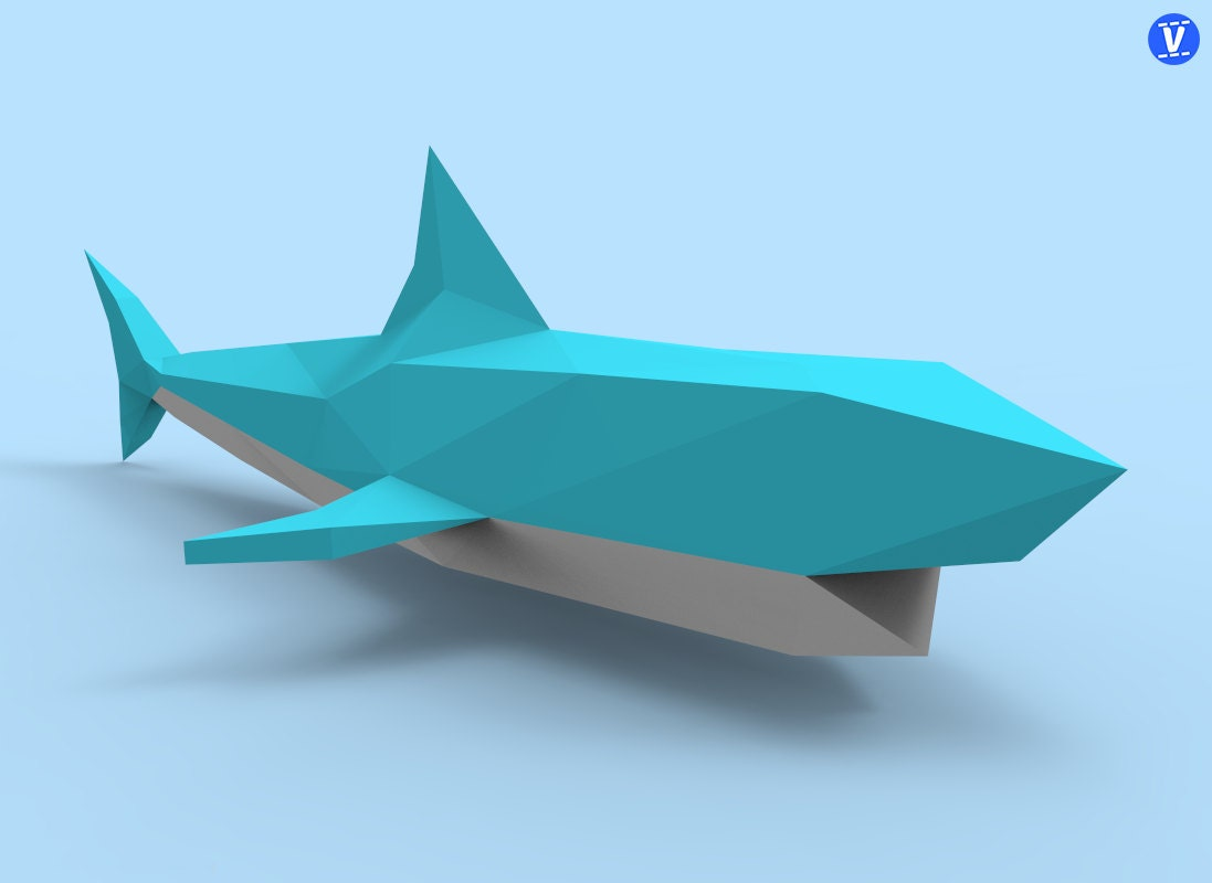 Shark 2 Papercraft PDF Pack - 3D Paper Sculpture Template with ...