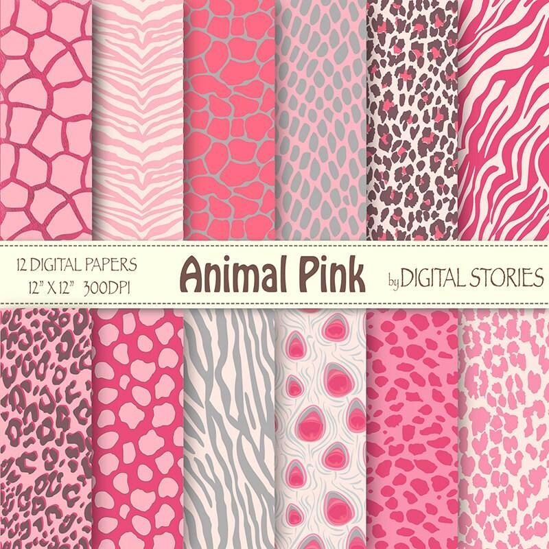 Animal Print Digital Paper: ANIMAL PRINT PINK
