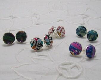 Handmade Liberty Fabric Earrings Collection C