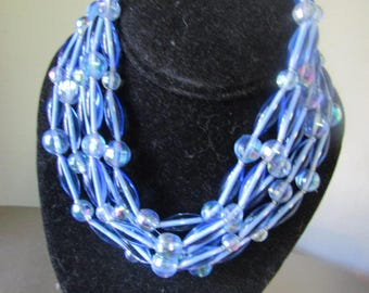 Gorgeous 5 Strand Glass Beaded Necklace