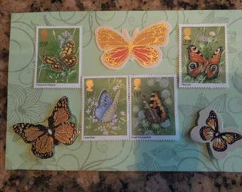 UK Butterfly postage stamps unused, issued 1981