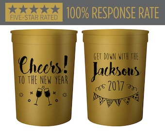 New Years Eve Stadium Cups, New Years Party Favor Stadium Cups, Cheers To The New Year, Party Favor Beer Stadium Cups New Years Party (120)