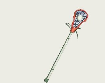 Lacrosse Stick Embroidery design logo
