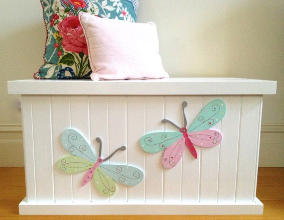 Items Similar To Toy Box Butterfly Girls Toy Box Toy