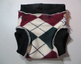 GRATEFUL BUNS 3-layer wool soaker diaper cover with Cashmere size M 10-20 lbs ML326b16Ldec17
