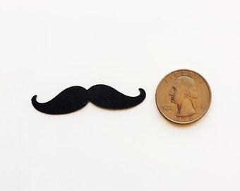 Black Mustache Confetti, Mustache Baby Shower Decor, Mustache Table Decor, Mustache Party Props
