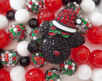 Mickey Mouse Inspired Bead Collection, 10mm beads and larger, K25