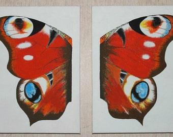 Painting of Butterfly Wings, Butterfly Painting, Butterfly Wings - Painted to Order