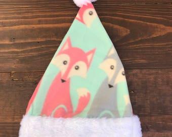 fox christmas santa hat, santa hat, holidays