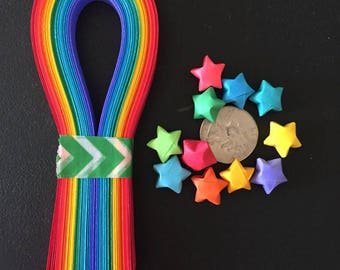 Origami Star Paper Strips, Rainbow (100)