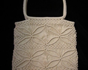 1970 Handmade Macrame Handbag from Mazatlan New Condition