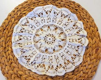Vintage Mandala crochet doily