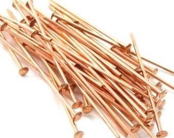Head Pins Genuine Copper 1 Inch 22ga (50) FI113