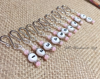 Row Counter Stitch Markers | Removable Numbered Markers for Knitting or Crochet | Gift