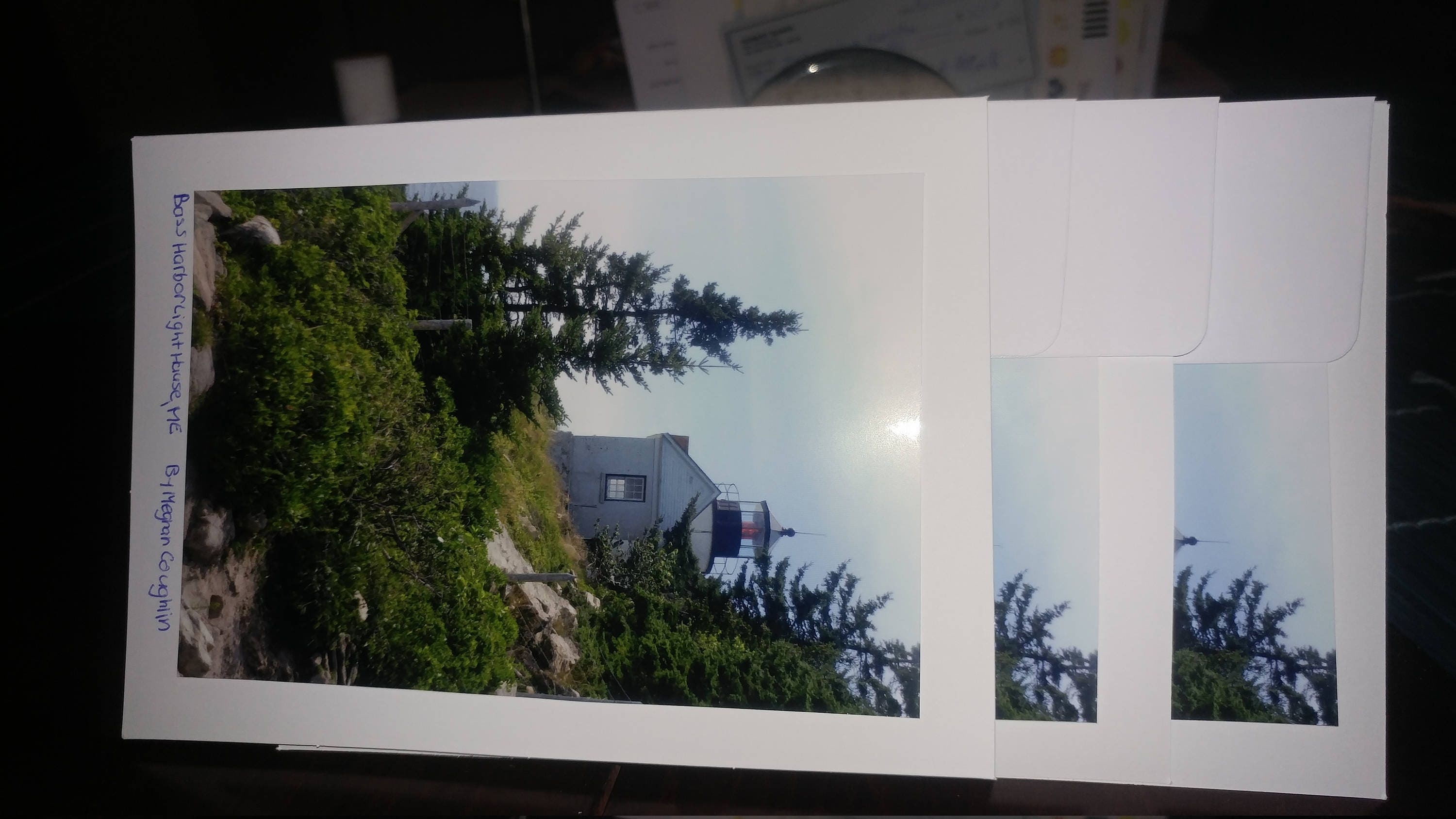 Blank greeting cards bass harbor head lighthouse with zoom kristyandbryce Choice Image