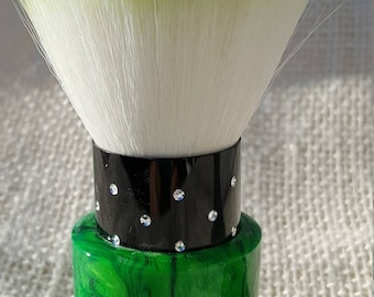 Luxury series Emerald Green Acrylic Makeup Powder Brush KB21
