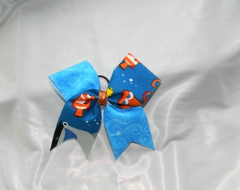 Finding Dory Inspired Piggy Tail Cheer Bow Hair Bow