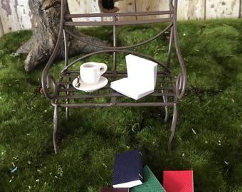 Miniature cup of coffee, dollhouse miniature coffee, tiny cup of coffee, miniature tea cup, tiny teacup