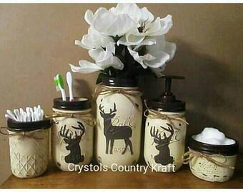 Charmant Deer Bathroom Decor, Deer Soap Pump, Deer Toothbrush Holder, Deer Country  Rustic Bathroom, Woodland Animal Decor, Cream And Brown