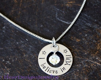 I Believe in You Charm Necklace, Inspirational Necklace, Jewelry for Daughter, Encouragement Jewelry for Friend