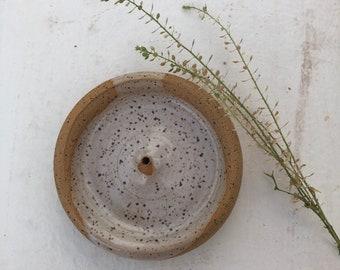 Handmade Speckled Incense Holder