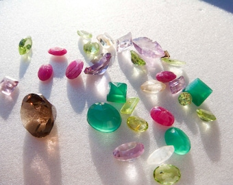 30 loose gemstones for jewelry making FREE SHIPPING
