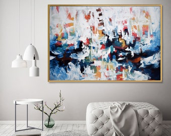 LARGE WALL Art Giclee Prints Abstract Art Painting Modern Art Prints Blue Wall Art Prints Blue Wall Decor Blue Homewares Abstract Art Prints
