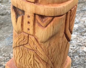 oak hand carved ODIN