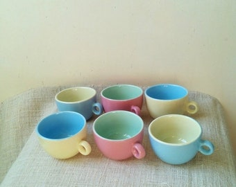 20%Off Colorful ceramic coffee set- pastel colors