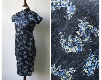 Vintage silky smooth qipao sz S