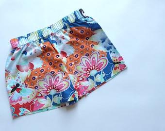 Kids shorts printed manga/Flower/Butterfly: 3 years