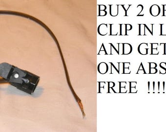 """Clip In Lamp Night Light Socket With 24""""  Wire ,Lamp Repair, Vintage Lamp Parts"""