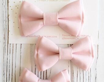 Petal pink bowtie - flesh pink bowtie - blush bowtie - Groomsmen bowtie - ring bearer's bowtie - father and son - dog bowtie-pink bow tie