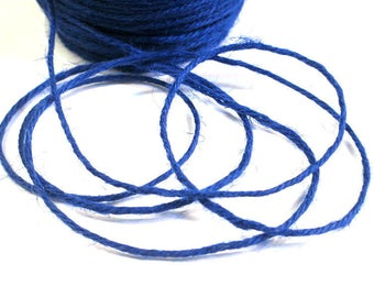 10 m blue 2mm hemp cord