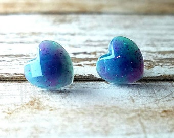 Heart Studs Heart Gifts Valentines Earrings Valentine Gift Resin Jewelry Womens Tiny Glitter Studs Top Selling Items Wedding Gifts