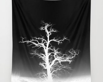 Trees Wall Tapestry, Trees Home Decor, Nature Tapestry, Wall Tapestry, Home Decor, Tree Branches, Woodland, Dark, Gothic, Noir, Black White