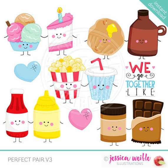Perfect Pair V3 Cute Digital Clipart Commercial Use OK